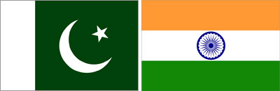 India & Pakistam Flag