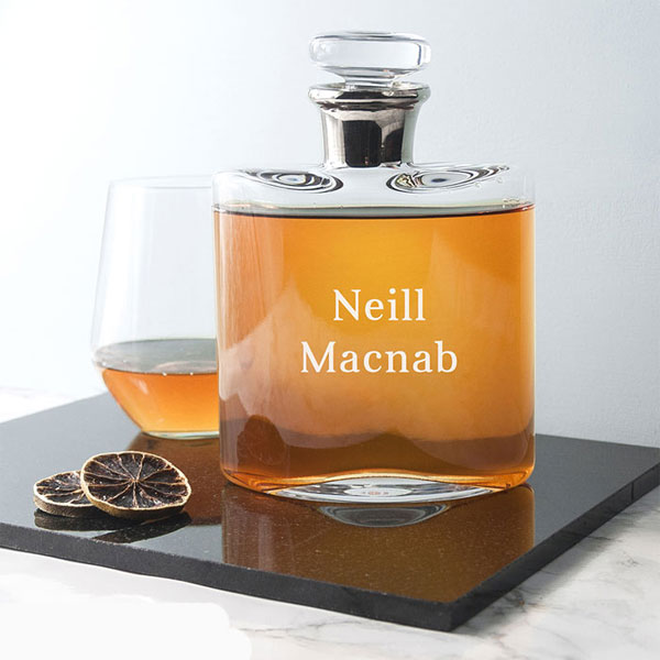 Engraved Whisky Decanter