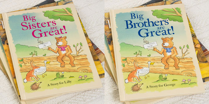 Personalised New Big Brother or Big Sister Books