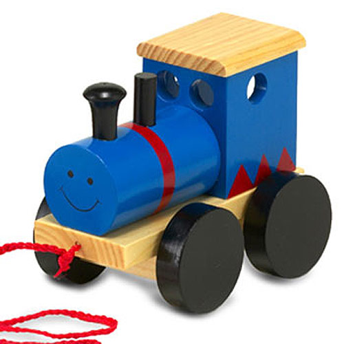 Wooden Pull-Along Train