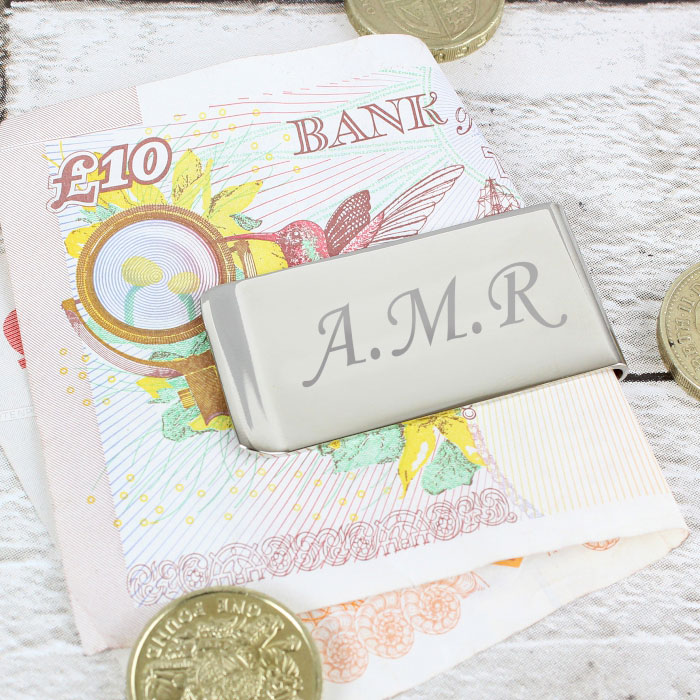 Personalised Silver Plated Engraved Money Clip