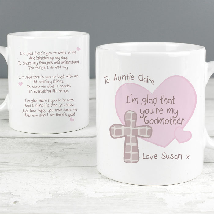 Personalised Godmother or Godfather Mug