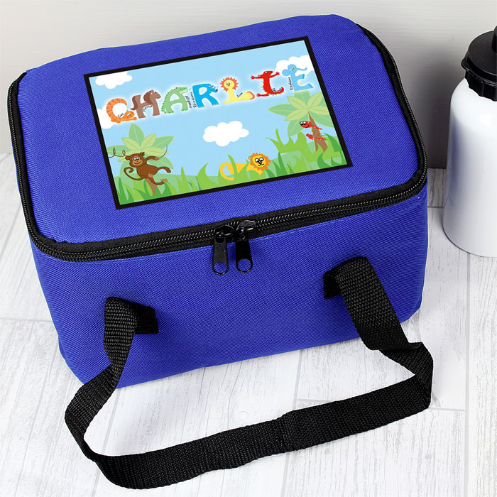 Personalised Animal Letter Insulated Lunch Sandwich Bag