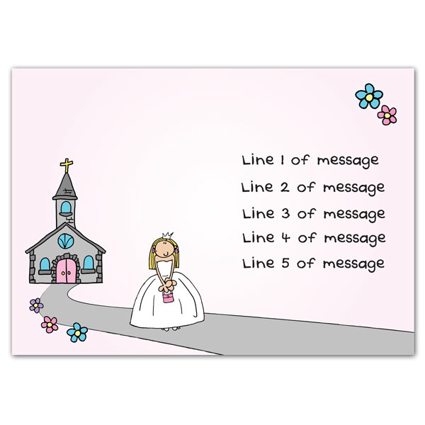 bang on the door personalised first holy communion card born gifted
