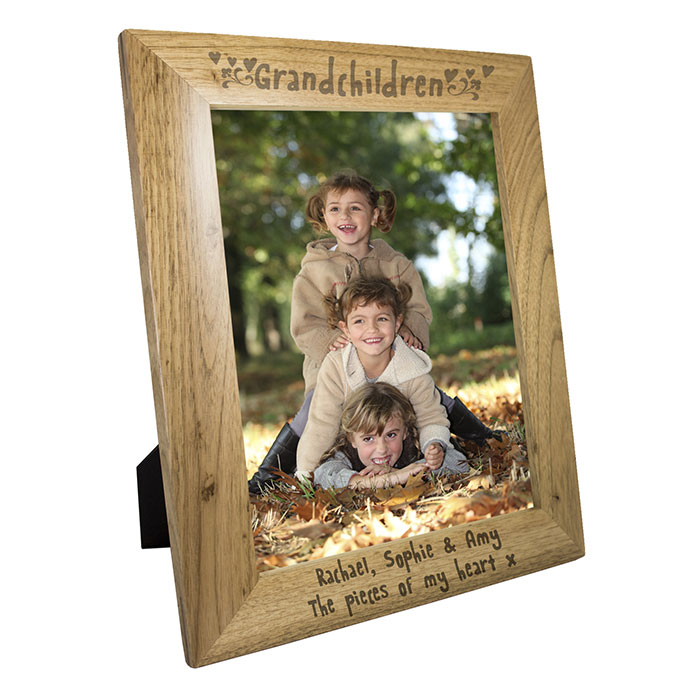 Engraved Oak Grandchildren Frame 5 x 7 Inch
