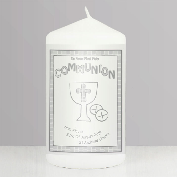 Personalised First Holy Communion Candle