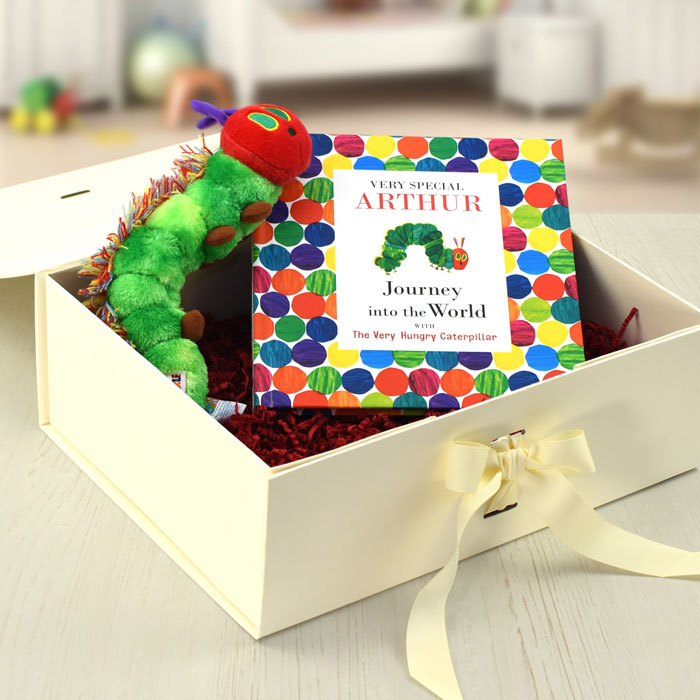Personalised Hungry Caterpillar Book and Toy Baby Gift Set