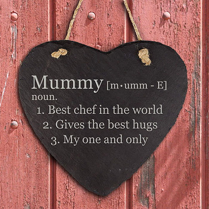 Definition Heart Hanging Slate Keepsake Mummy Grandma
