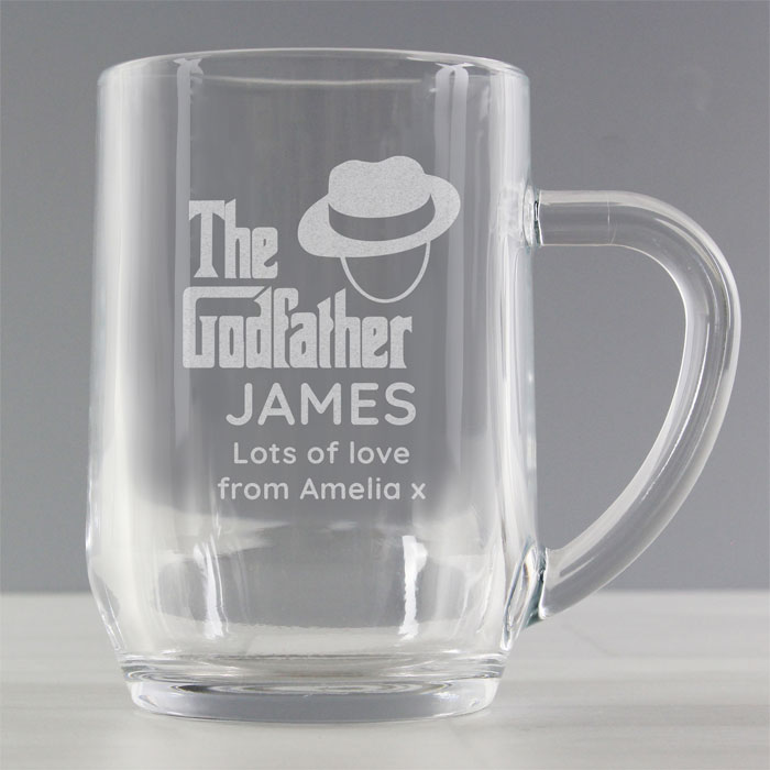 The Godfather Personalised Glass Tankard Exclusive