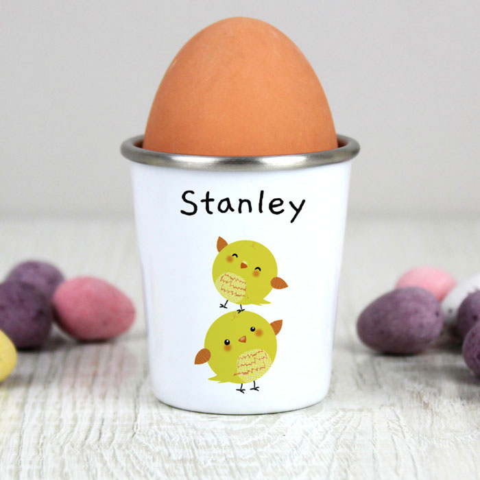 Fluffy Chick Personalised Egg Cup