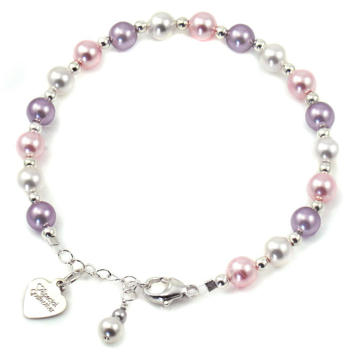 Silver and Pearls Godmother Bracelet