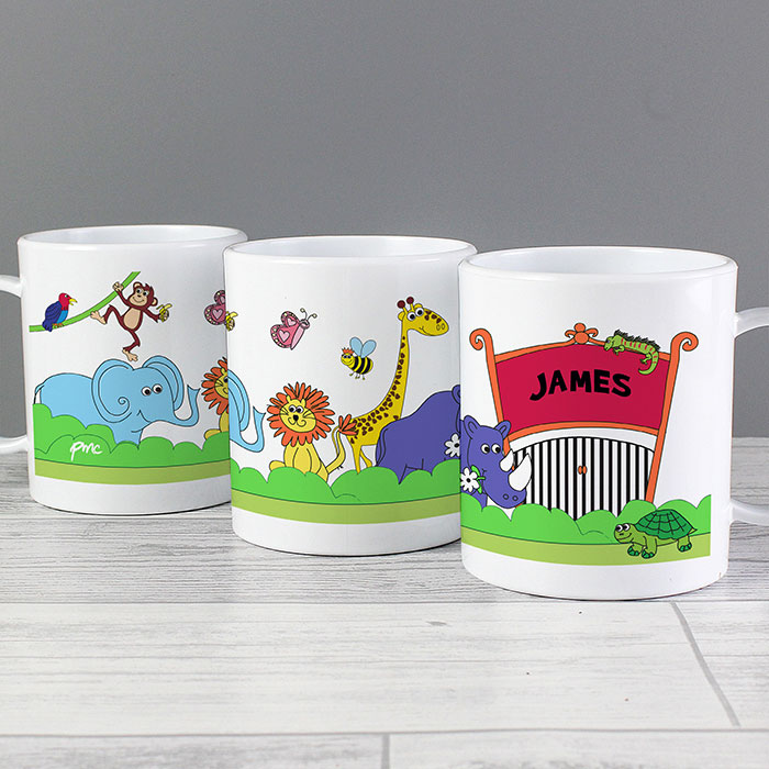 Personalised Zoo Drop Proof Cup
