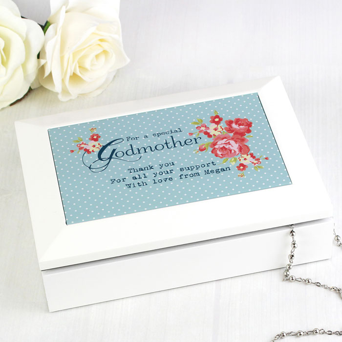 Personalised Godmother Jewellery Box Exclusive