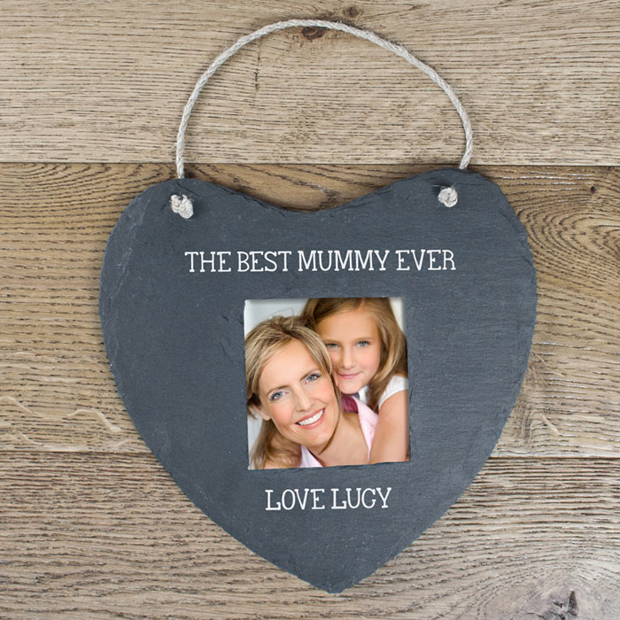 The Best Mummy Ever Personalised Slate Picture Frame