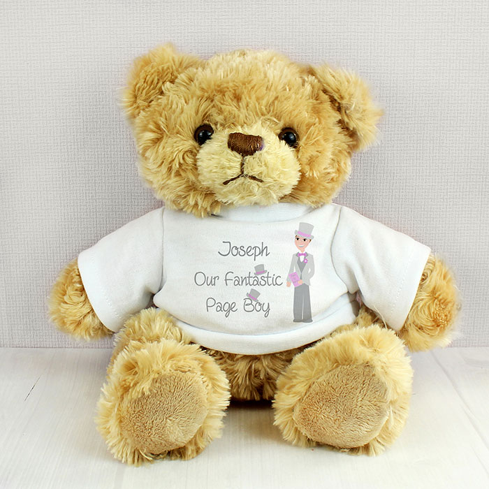 Personalised Fabulous Page Boy Message Teddy Bear
