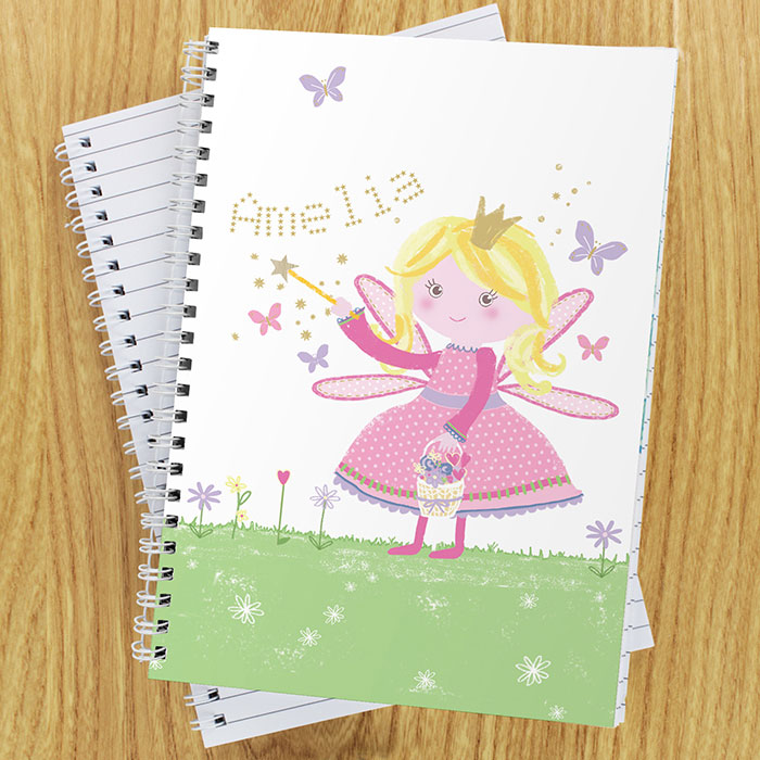 Personalised Garden Fairy Notebook