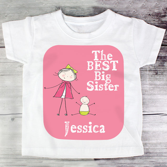 The Best Big Sister Personalised T Shirt
