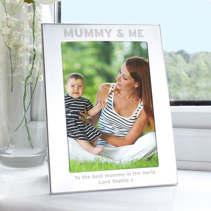 Personalised Aluminium 5x7inch Mummy and Me Photo Frame