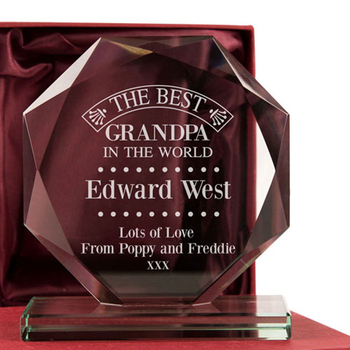 Personalised The Best Grandpa in the World Presentation Gift