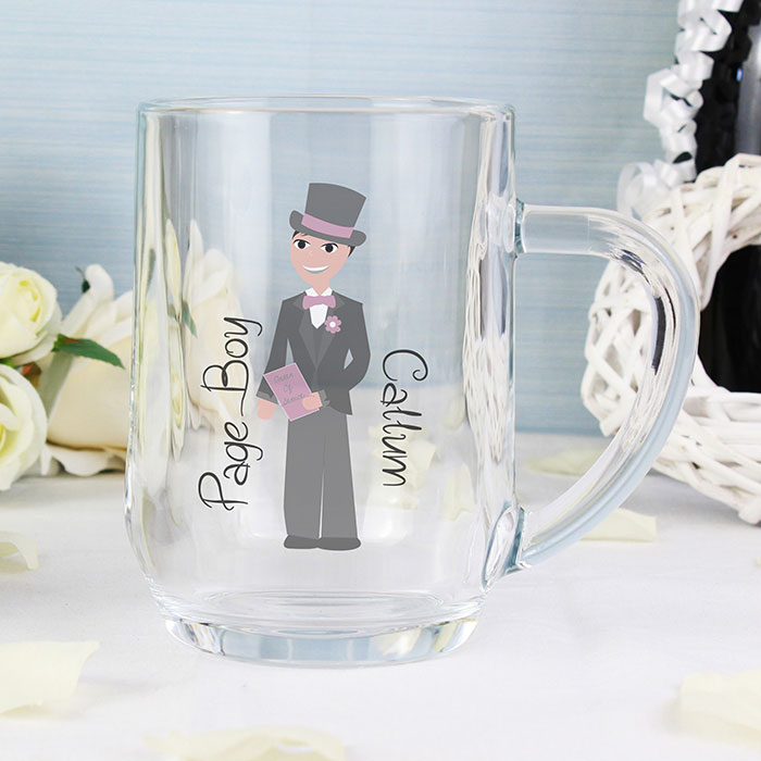 Personalised Page Boy Glass Tankard