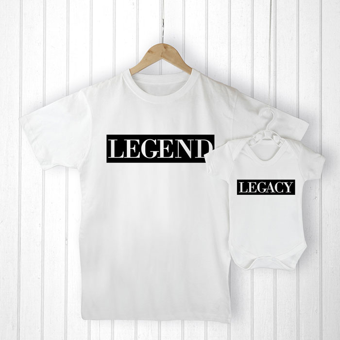 Personalised Daddy and Me Legendary Legacy Clothing Set