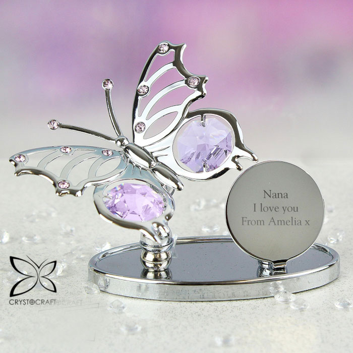 Personalised Crystocraft Butterfly Remembrance Ornament