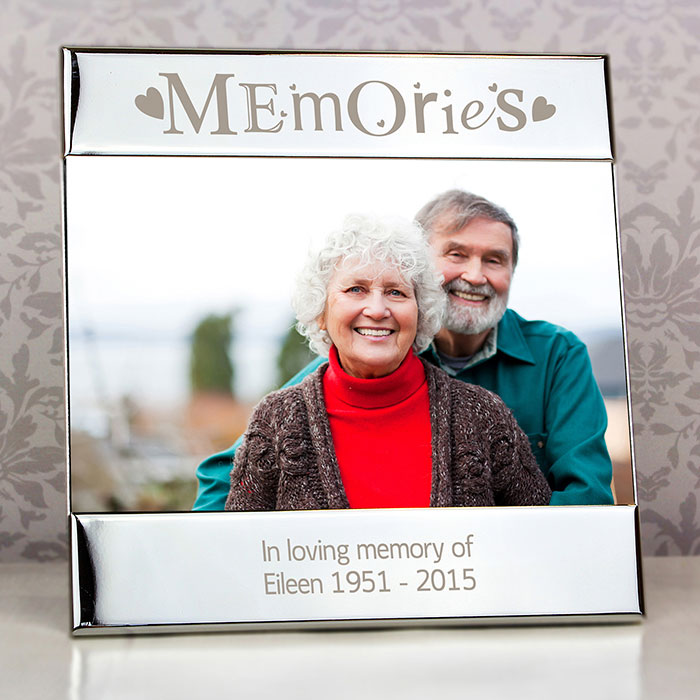 Personalised Silver Memories Square 6 x 4 Inch Photo Frame