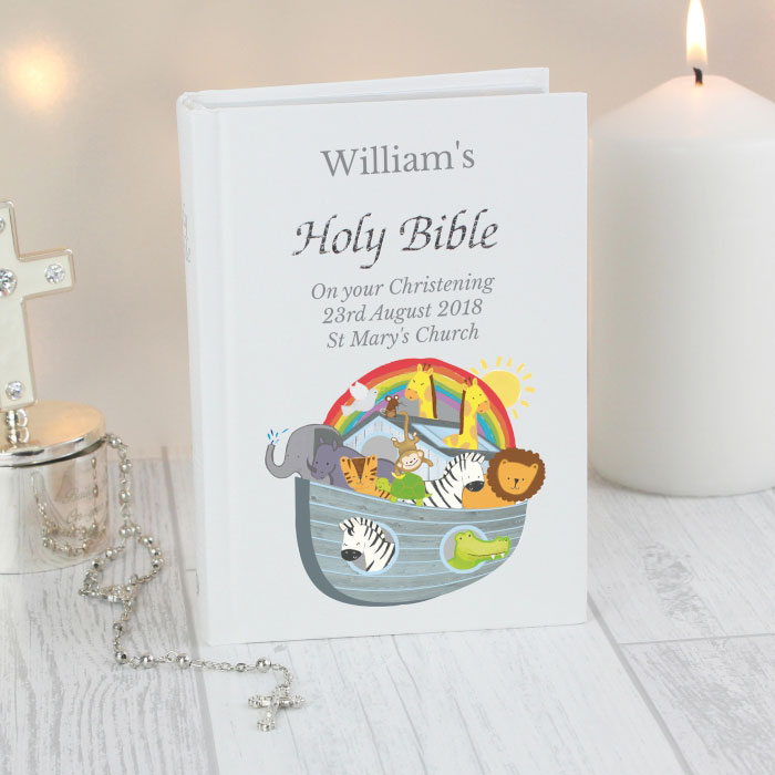 Personalised Noah's Ark Children's Christening Bible