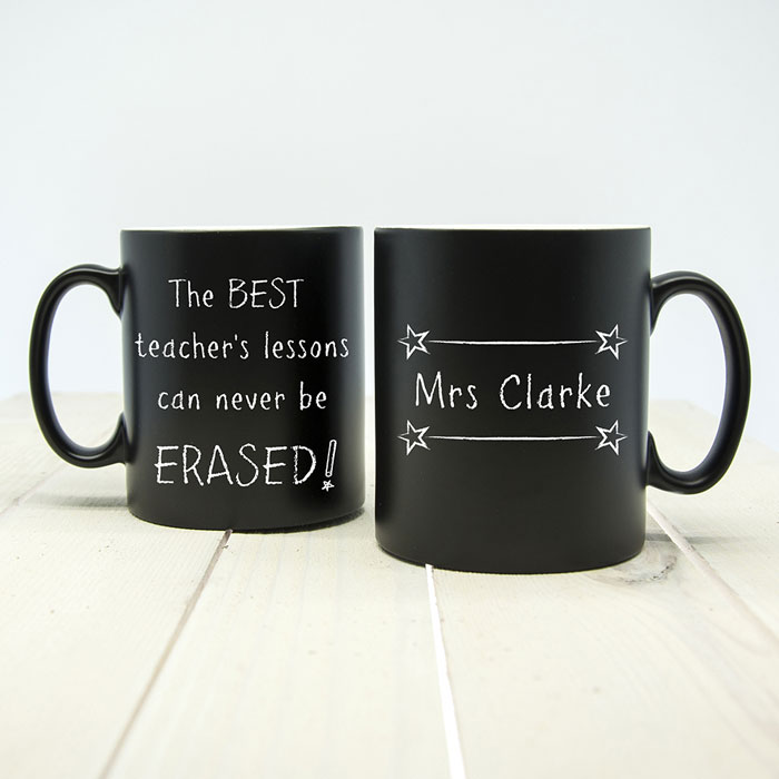 Teachers Lessons Can Never Be Erased Personalised Matte Mug