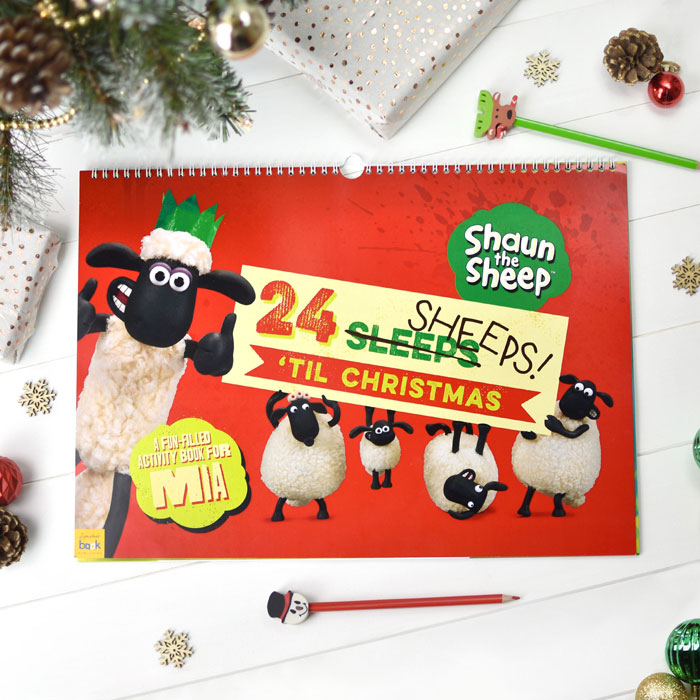 Shaun the Sheep Personalised Activity Advent Calendar