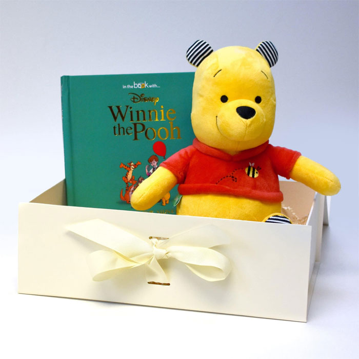 Personalised Winnie The Pooh Book & Plush Toy Baby Gift Set