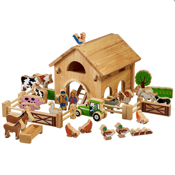 Lanka Kade Deluxe Wooden Farm Barn With Colourful Characters