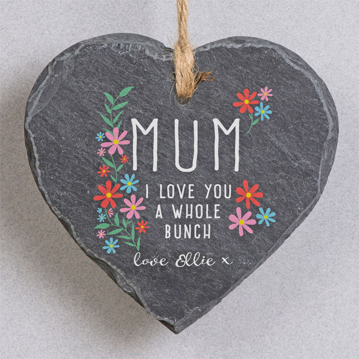 I Love You A Whole Bunch Personalised Hanging Slate