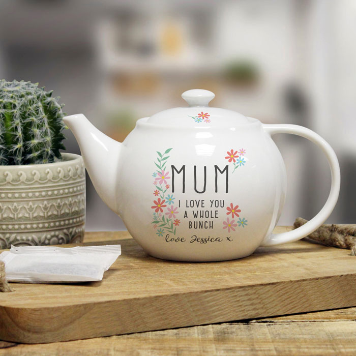 I Love You A Whole Bunch Personalised China Teapot
