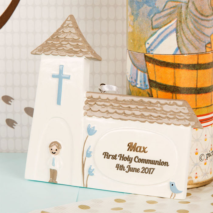 Boys Personalised First Holy Communion Church Ornament