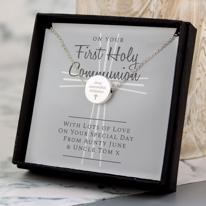Personalised First Holy Communion Necklace and Box