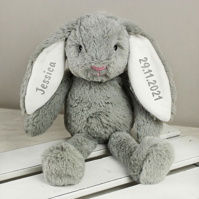 Personalised Flower Girl or Page Boy Teddy Bunny Soft Toy