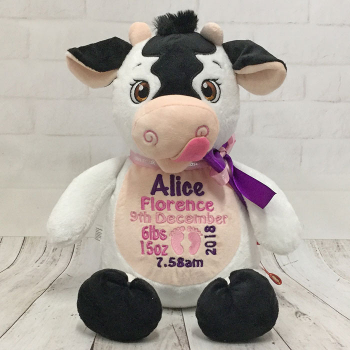 Personalised Cubbies Cow