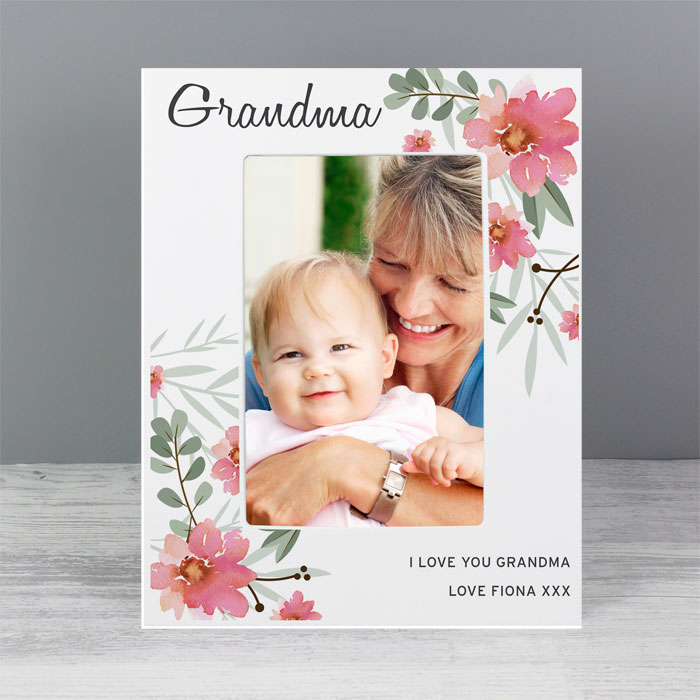 Personalised Floral Sentimental 6x4 Wooden Photo Frame