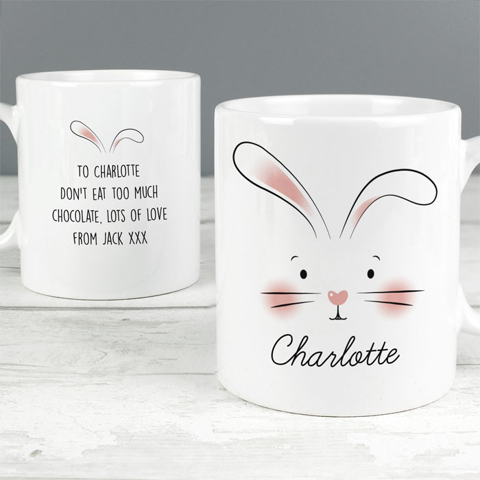 Personalised Bunny Features China Easter Mug
