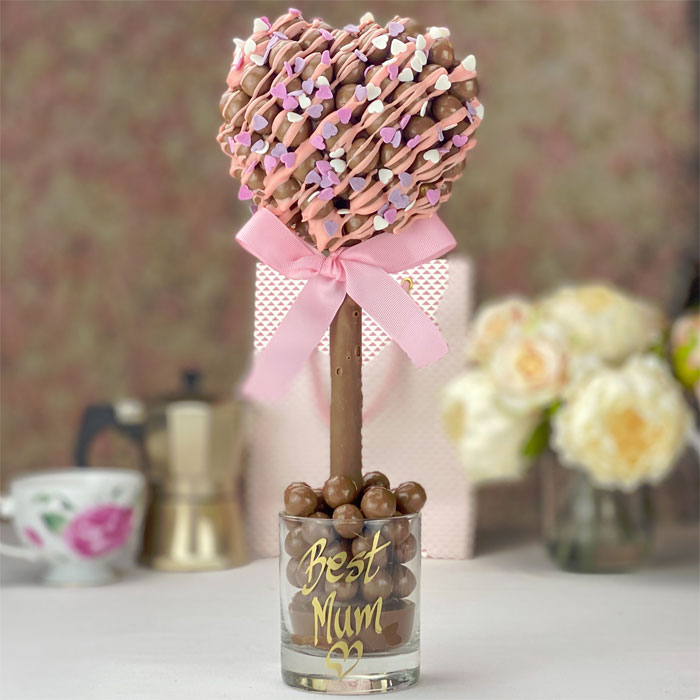 Malteser Heart Sweet Tree With Pink Drizzle