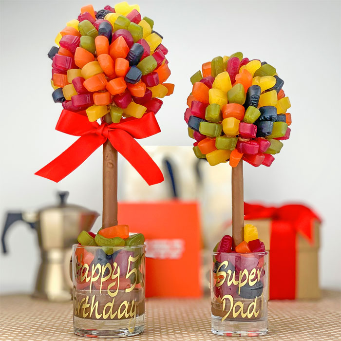 Personalised Wine Gum Sweet Tree