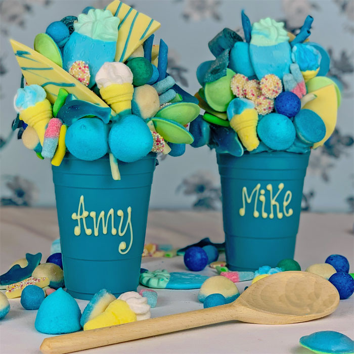 Personalised Blue Chocolate Smash Cup