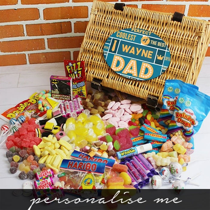 Personalised Best Dad Retro Sweet Hamper