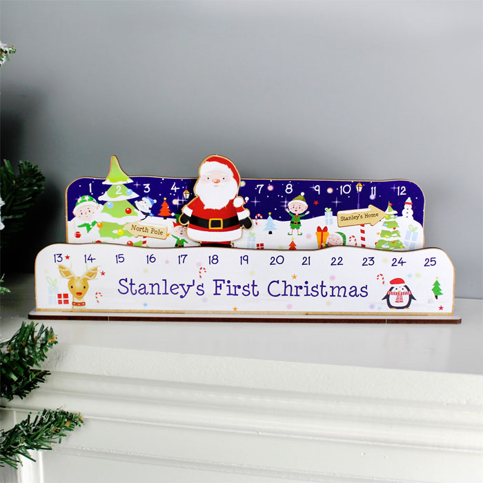Personalised Make Your Own Santa Christmas Advent Countdown