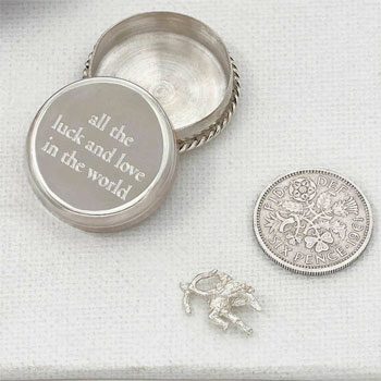 Tales From The Earth Silver Love and Luck Box in Gift Box