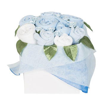 Blossom Box Baby Clothing Bouquet Pink Blue or White