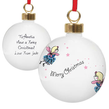 Funky Fairy Christmas Tree Bauble