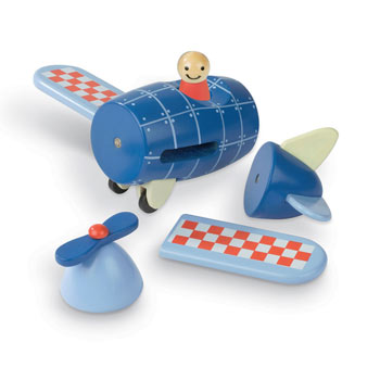 Wooden Magnetic Plane Toddler Activity Toy from Janod