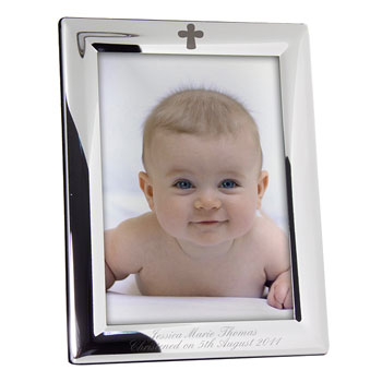 Personalised Engraved Cross Frame (5 x 7inch)